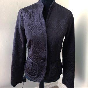 Banana Republic black quilted jacket M      k-1